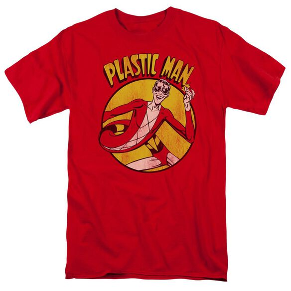 Dc Plastic Man Short Sleeve Adult T-Shirt