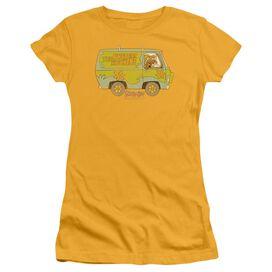 Scooby Doo The Mystery Machine Short Sleeve Junior Sheer T-Shirt