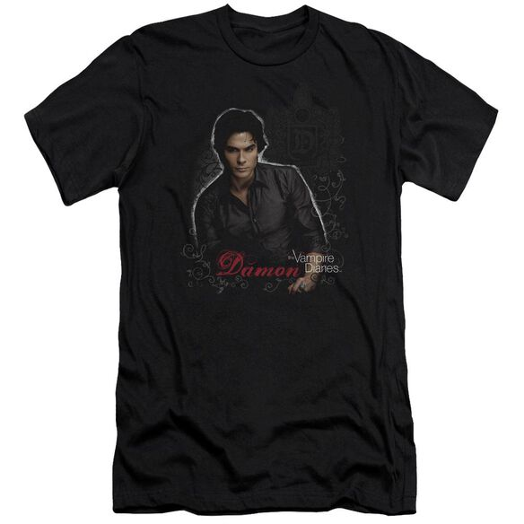 Vampire Diaries Damon Premuim Canvas Adult Slim Fit