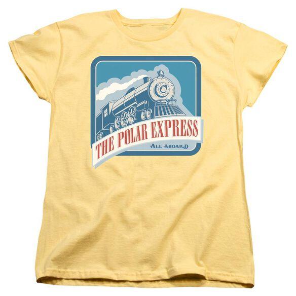 Polar Express All Aboard Short Sleeve Womens Tee T-Shirt