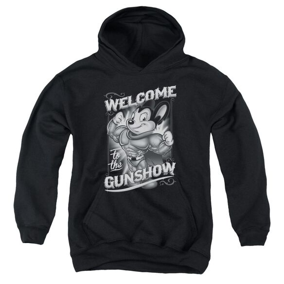 Mighty Mouse Mighty Gunshow Youth Pull Over Hoodie