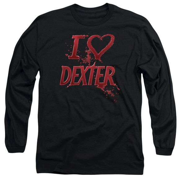 Dexter I Heart Dexter Long Sleeve Adult T-Shirt