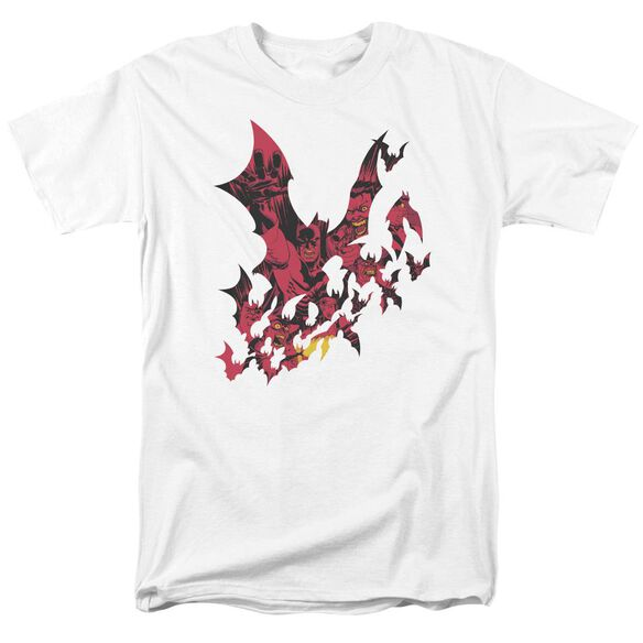 Batman Broken City Short Sleeve Adult White T-Shirt