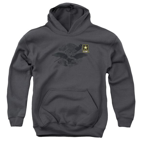 Army Left Chest Youth Pull Over Hoodie