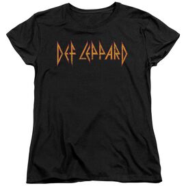 Def Leppard Horizontal Logo Short Sleeve Womens Tee T-Shirt