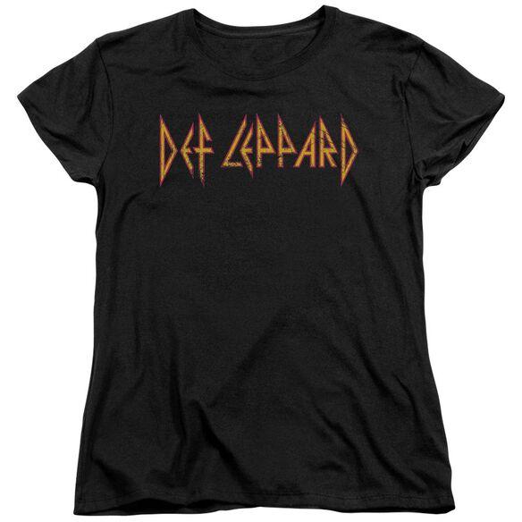 Def Leppard Horizontal Logo Short Sleeve Womens Tee T-Shirt