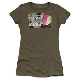 Sg1 Upscale Short Sleeve Junior Sheer Military T-Shirt