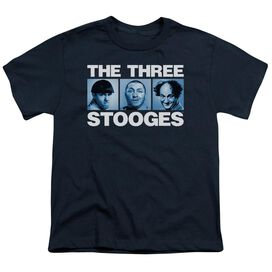 Three Stooges Three Squares Short Sleeve Youth T-Shirt