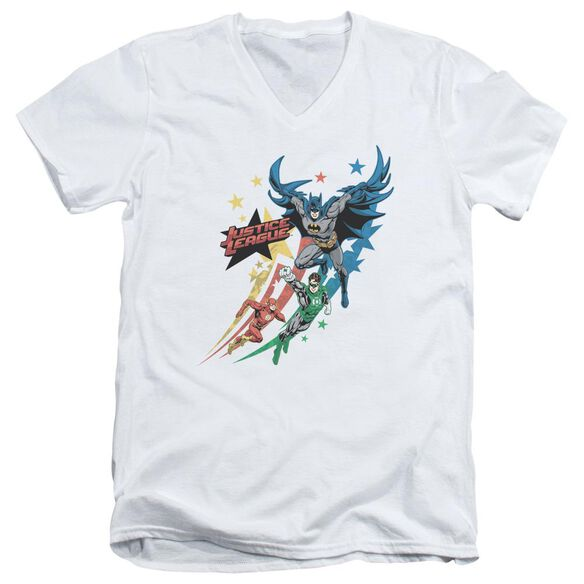 Jla Allegiance Short Sleeve Adult V Neck T-Shirt