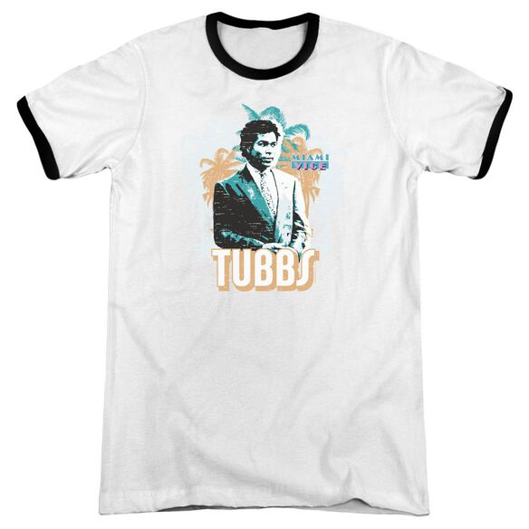 Miami Vice Tubbs Adult Ringer White Black