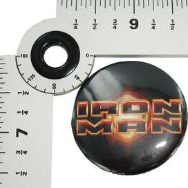 Iron Man Movie Logo Button