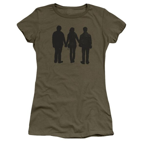 Harry Potter Three Stand Alone Hbo Short Sleeve Junior Sheer Military T-Shirt