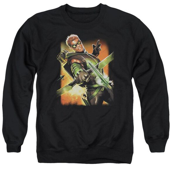 Jla Green Arrow #1 Adult Crewneck Sweatshirt