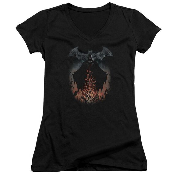 Batman Smoke & Fire Junior V Neck T-Shirt