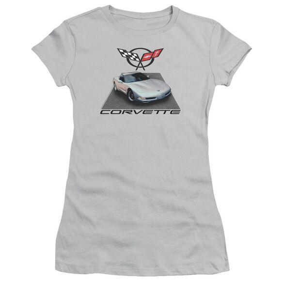 Chevrolet 01 Vette Short Sleeve Junior Sheer T-Shirt