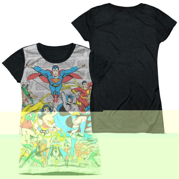 DC JUSTICE LEAGUE ASSEMBLE-S/S JUNIOR POLY T-Shirt