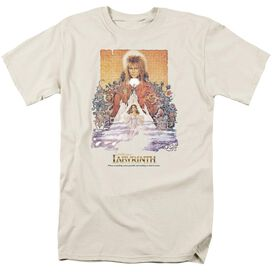 Labyrinth Movie Poster Short Sleeve Adult Cream T-Shirt