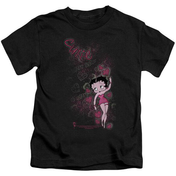 Betty Boop Cutie Short Sleeve Juvenile Black T-Shirt