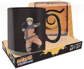 Naruto Shippuden Clone Jutsu Magic Mug And Coaster Gift Set