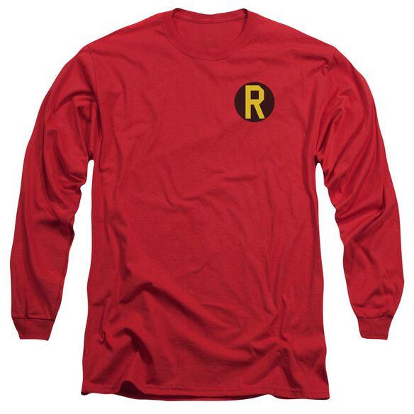 Dc Robin Logo Long Sleeve Adult T-Shirt