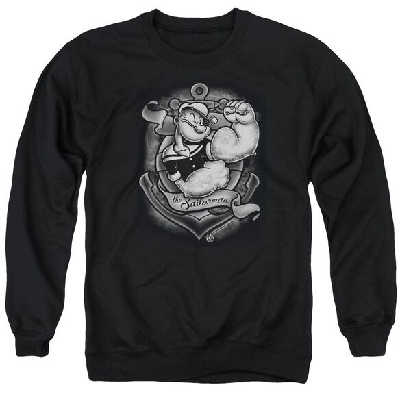 Popeye Anchors Away Adult Crewneck Sweatshirt
