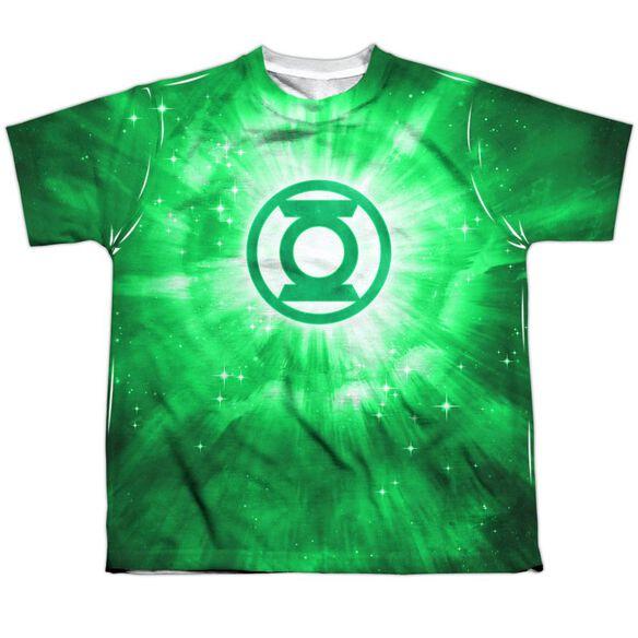 Green Lantern Green Energy Short Sleeve Youth Poly Crew T-Shirt