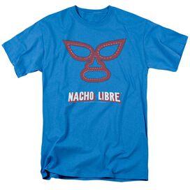 Nacho Libre Mask Short Sleeve Adult Turquoise T-Shirt