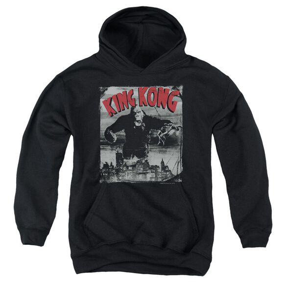 King Kong City Poster Youth Pull Over Hoodie