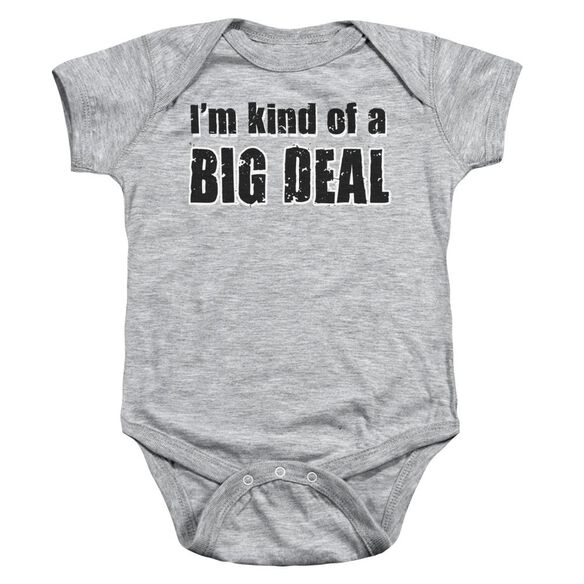 Big Deal Infant Snapsuit Athletic Heather Sm