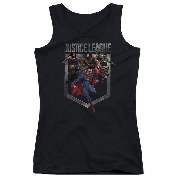Justice League Movie Charge Juniors Tank Top