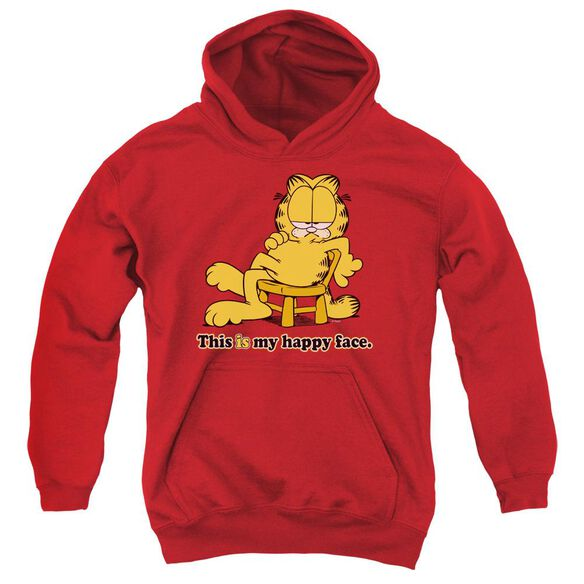 Garfield Happy Face Youth Pull Over Hoodie