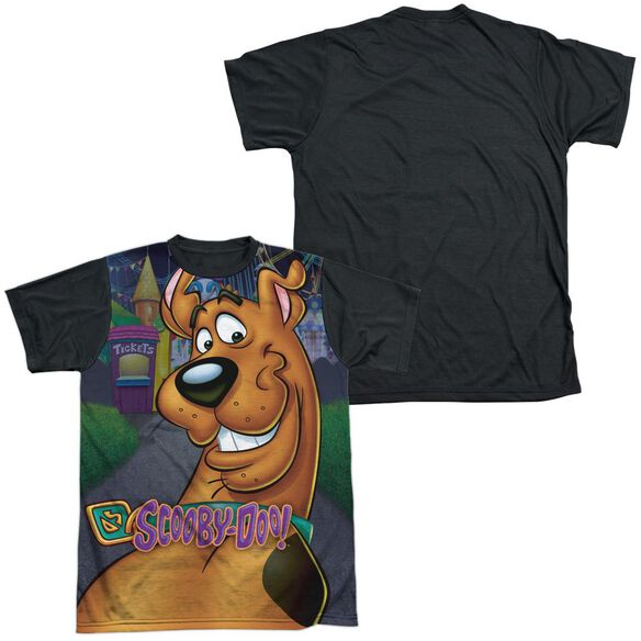 Scooby Doo Big Dog Short Sleeve Adult Front Black Back T-Shirt