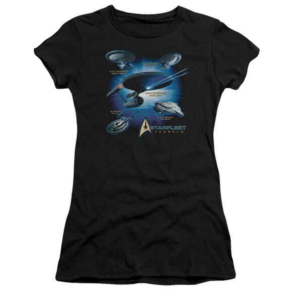 Star Trek Starfleet Vessels Short Sleeve Junior Sheer T-Shirt