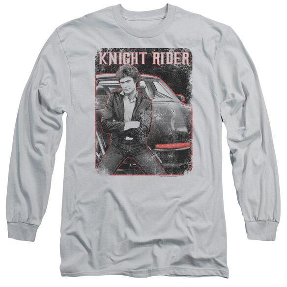 Knight Rider Knight And Kitt Long Sleeve Adult T-Shirt