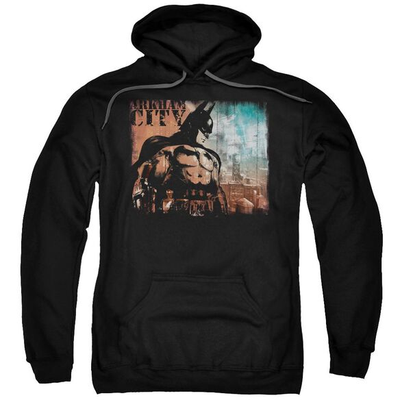 Arkham City City Knockout Adult Pull Over Hoodie Black