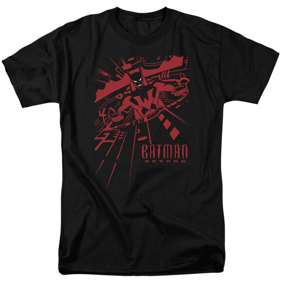 Batman Beyond At The Controls Short Sleeve Adult Black T-Shirt