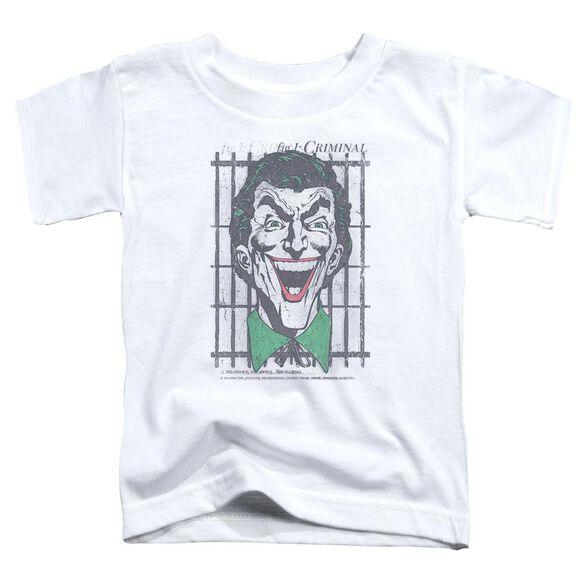 Dc Criminal Short Sleeve Toddler Tee White T-Shirt