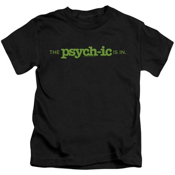 Psych The Psychic Is In Short Sleeve Juvenile Black Md T-Shirt