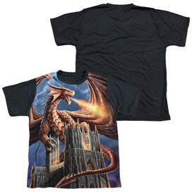 Anne Stokes Dragons Fury Short Sleeve Youth Front Black Back T-Shirt