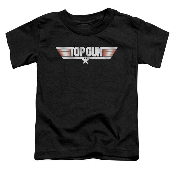 Top Gun Logo Short Sleeve Toddler Tee Black Md T-Shirt
