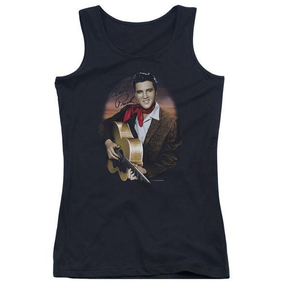 Elvis Presley Red Scarf #2 Juniors Tank Top