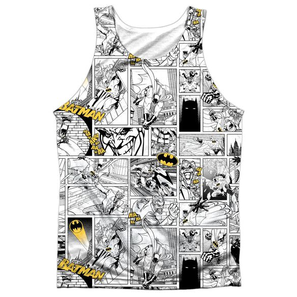 Batman Comic All Over Adult 100% Poly Tank Top