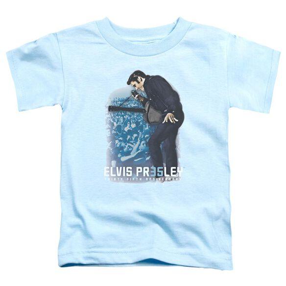 Elvis 35 Th Anniversary 3 Short Sleeve Toddler Tee Light Blue Lg T-Shirt