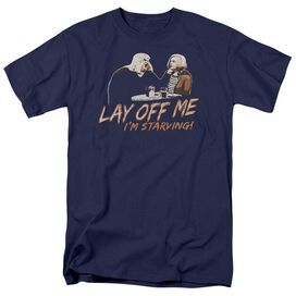 Snl Lay Off Me Short Sleeve Adult Navy T-Shirt