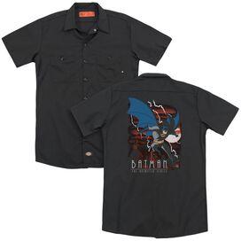 Batman The Animated Series Lightning Strikes(Back Print) Adult Work Shirt