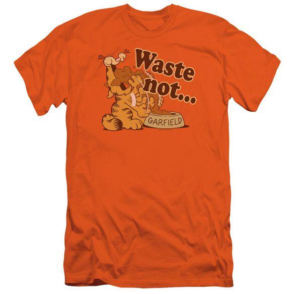Garfield Waste Not Short Sleeve Adult T-Shirt