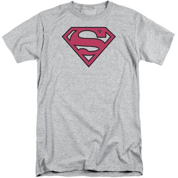 Superman Red & Black Shield Short Sleeve Adult Tall Athletic T-Shirt