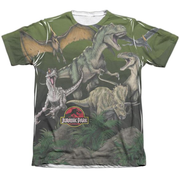 Jurassic Park Pack Of Dinos Adult Poly Cotton Short Sleeve Tee T-Shirt