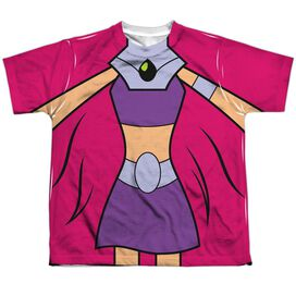 Teen Titans Go Starfire Uniform Short Sleeve Youth Poly Crew T-Shirt