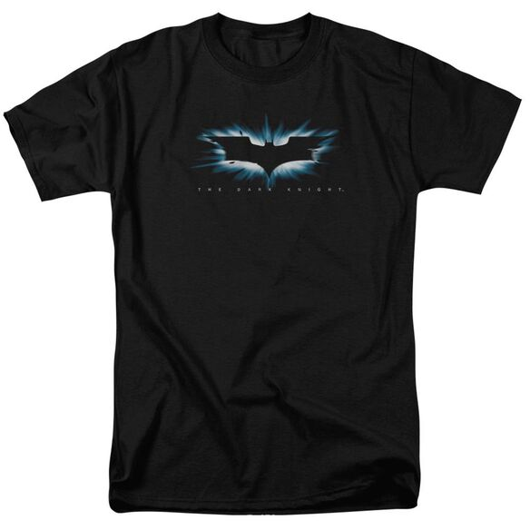 Dark Knight High Impact Burst Logo Short Sleeve Adult Black T-Shirt
